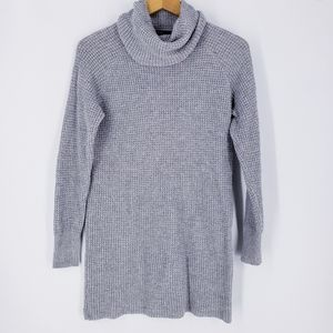 Forever 21 Gray Waffle Knit Wool Blend Tunic
